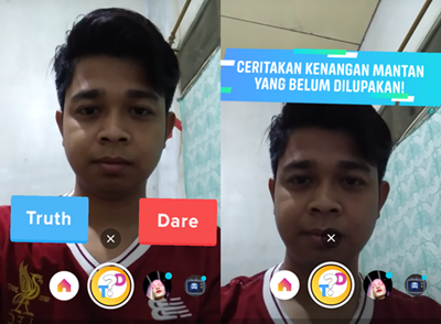 Cara Bermain Filter Truth Or Dare Di Instagram Story Mikirtekno Com