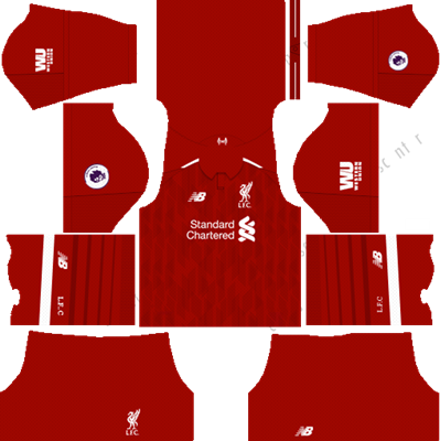 Jersey Kit DLS Liverpool FC 2019/2020, Dream League Soccer
