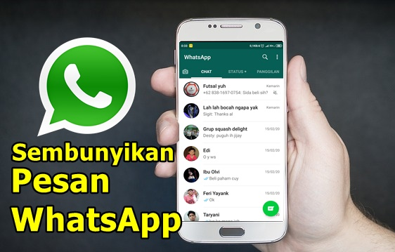 PRIVASI AMAN! Cara Menyembunyikan Chat WhatsApp di Android 100% Work
